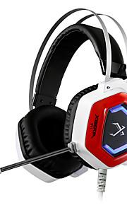 xiberia v11 spil øretelefon LED lys stereo pandebånd glødende pc gamer hovedtelefoner super bass 7.1 usb vibrationer hovedtelefoner med