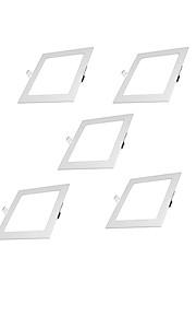 5pcs 6w 100-240V 810lm blanco caliente ultra-delgada llevado panel rebajado cuadrado luz blanca / natural