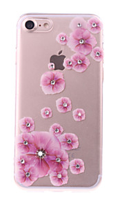 For IPhone 7 Pattern Case Back Cover Case Diamond Plum Blossom DIY Pattern for IPhone 6s/6/6 Plus/7/7Plus/SE/5s/5