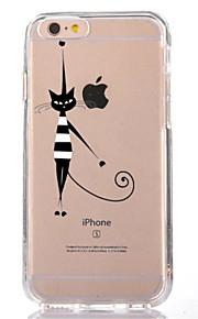 Para Transparente Diseños Funda Cubierta Trasera Funda Gato Suave TPU para AppleiPhone 7 Plus iPhone 7 iPhone 6s Plus iPhone 6 Plus
