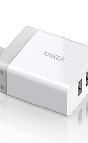 Bærbar lader Til iPad Til mobiltelefon Til tablett 2 USB-porter Us Plugg