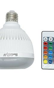 youoklight 1PCS E26 / E27 4w 블루투스 RGB 음악 램프 원격 제어 미니 스마트 오디오 스피커 RGB 음악은 디스코 생일 파티 클럽 전구를 주도