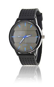 Relógio Esportivo Relógio de Moda Quartzo Silicone Banda Casual Preta marca
