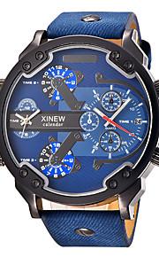 Masculino Infantil Relógio Esportivo Relógio Militar Relógio Elegante Relógio de Moda Relógio de PulsoCalendário Dois Fusos Horários Punk