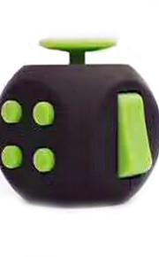 Cubo Macio de Velocidade Alivia Estresse Cubos Mágicos Preta Verde Plástico