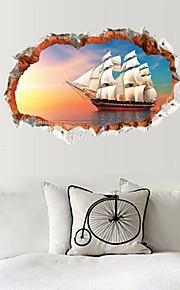 abstrakt fritid 3D Veggklistremerker 3D Mur Klistremerker Dekorative Mur Klistermærker,Papír Materiale Hjem Dekor Veggoverføringsbilde