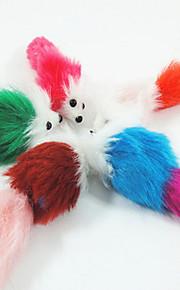 Kattleksak Hundleksak Husdjursleksaker Musleksak Mus Slumpmässig färg Plysh