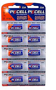 pkcell 12v alkaliska batterier 23a 12v 10 förpackningar 5pc / kort