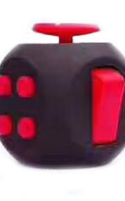 Brinquedos Cubo Macio de Velocidade Cube Fidget Novidades Alivia Estresse Cubos Mágicos Vermelho Preta Plástico