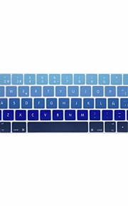 XSKN® European Spanish Gradient Silicone Keyboard Skin and Touchbar Protector for 2016 Newest MacBook Pro 13.3/15.4 with Touch Bar Retina