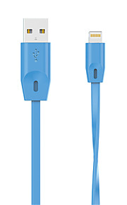 HXINH FlatTail MFi Certified Lightning to USB Charger SYNC Flat/Noodle 1M Cable for iphone5 6 plus SE, iPad air pro mini