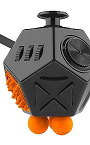 Brinquedos Cubo Macio de Velocidade Cube Fidget Novidades Alivia Estresse Cubos Mágicos Preta Laranja Plástico