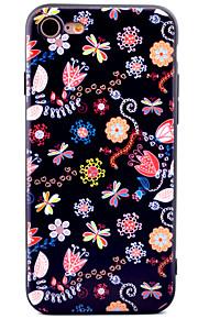Pour Motif Coque Coque Arrière Coque Fleur Flexible PUT pour Apple iPhone 7 Plus iPhone 7 iPhone 6s Plus iPhone 6 Plus iPhone 6s iphone 6