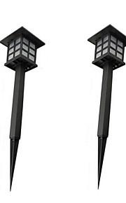 2 stk retro utenfor land stake lys vanntett solenergi plenen lamper søkelys ledet banen gangen lykt utendørs hage bakgård belysning