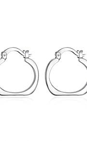 Ikke-sten Store øreringe Smykker Afslappet Sport Plastik Sølvbelagt 1 par Sølv