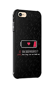 För Stötsäker Mönster fodral Skal fodral Ord / fras Mjukt Silikon för AppleiPhone 7 Plus iPhone 7 iPhone 6s Plus iPhone 6 Plus iPhone 6s