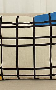 1 Stk. Linned Pudebetræk,Nyhed Med Tekstur Geometrisk Moderne / Nutidig Afslappet Andre