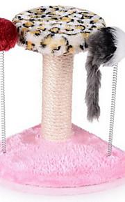 Kattelegetøj Kæledyrslegetøj Interaktivt Kradsebræt Træ Sisal Plysset