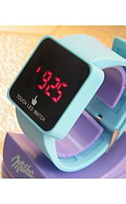 Unissex Relógio de Moda Digital Couro Banda Casual Azul Verde Rosa Azul Claro Verde Rosa claro