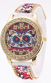 לנשים שעוני ספורט שעוני שמלה שעוני אופנה שעון יד Chinese קווארץ עור אמיתי להקה מזל יום יומי יצירתי צבעוני לבן שחור אדום כחול ורוד