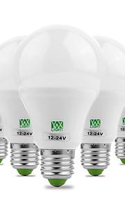 7W E26/E27 LED-globepærer 14 SMD 5730 600-700 lm Varm hvit Kjølig hvit Dekorativ AC 12 V 5 stk.