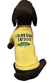 犬用品 Tシャツ 犬用ウェア 夏 ゼブラプリント キュート ファッション カジュアル/普段着 イエロー
