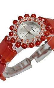 Mulheres Relógio de Moda Quartzo Verde caçador Banda Vermelho Vermelho