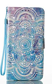 Para Soporte de Coche Cartera con Soporte Flip Diseños Magnética Funda Cuerpo Entero Funda Mandala Dura Cuero Sintético para SamsungS8 S8