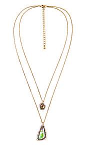 Dame Halskæder med flere lag Geometrisk form Mode Personaliseret Euro-Amerikansk Regnbue Smykker For 1 Stk.