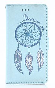 Til Lommebok Kortholder med stativ Flipp Inngravert Mønster Magnetisk Etui Heldekkende Etui Glitter Hard PU-lær til HuaweiHuawei P10