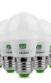 3W E26/E27 LED-globepærer 6 SMD 5730 200-300 lm Varm hvit Kjølig hvit Dekorativ AC 12 V 5 stk.