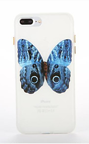 Voor Glow in the dark Patroon hoesje Achterkantje hoesje Vlinder Zacht TPU voor AppleiPhone 7 Plus iPhone 7 iPhone 6s Plus iPhone 6 Plus