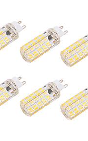 4W G9 E26/E27 LED-kornpærer T 80 SMD 5730 400 lm Varm hvit Kjølig hvit Dimbar Dekorativ AC 220-240 AC 110-130 V 6 stk.