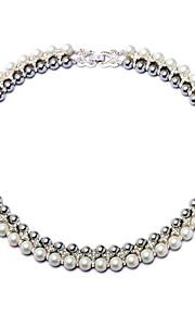 Dame Kort halskæde Cirkelformet Mode Personaliseret Hvid Smykker For Daglig Afslappet 1 Stk.