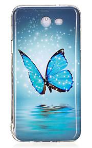 For Samsung Galaxy J5 J3 (2017) Case Cover Butterfly Pattern Luminous TPU Material IMD Process Soft Case Phone Case J5 J3 J7 (2016) J7 (2017)