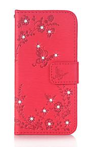 PerA portafoglio Porta-carte di credito Con diamantini Con supporto Con chiusura magnetica Decorazioni in rilievo Fantasia/disegno A