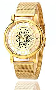 לנשים שעוני אופנה קווארץ סגסוגת להקה יום יומי כסף זהב זהב כסף זהב / לבן