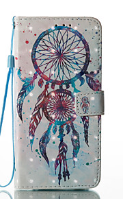 For Samsung Galaxy S8 Plus S8 Case Cover Wind Chimes Pattern Glare 3D Dimensional Glossy PU Material Stent Card Holster S7 S6 (Edge) S7 S6 S5