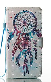 Para Soporte de Coche Cartera con Soporte Flip Diseños Magnética Funda Cuerpo Entero Funda Atrapasueños Dura Cuero Sintético para Samsung