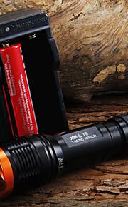 LED Lommelygter Lommelygter LED 1800 Lumen 5 Tilstand Cree XM-L T6 18650 Justerbart FokusCamping/Vandring/Grotte Udforskning Dagligdags
