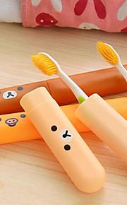 Protetor/Porta Escova de Dentes Portátil para Acessórios de Toalete