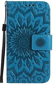 Per A portafoglio Porta-carte di credito Con supporto Con chiusura magnetica Decorazioni in rilievo Custodia Integrale CustodiaFiore