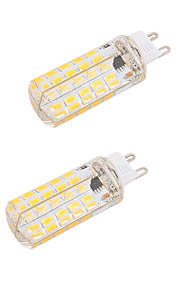 4W G9 E26/E27 LED-kornpærer T 80 SMD 5730 400 lm Varm hvit Kjølig hvit Dimbar Dekorativ AC 220-240 AC 110-130 V 2 stk.