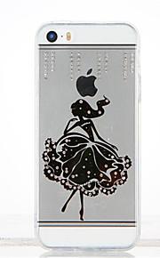 Per Con diamantini Fai da te Custodia Custodia posteriore Custodia Sexy Morbido TPU per Apple iPhone SE/5s iPhone 5