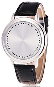 גברים לנשים שעוני ספורט שעוני שמלה שעוני אופנה שעון יד Chinese קווארץ עור אמיתי להקה מזל יום יומי יצירתי צבעוני זהב לבן שחור