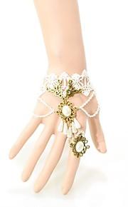 Dame Kæde & Lænkearmbånd Mode luksus smykker Blonde Kroneformet Hvid Sort Smykker For Bryllup Fest Speciel Lejlighed Fødselsdag Forlovelse