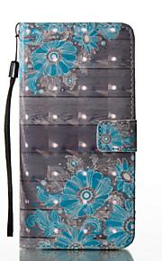 Para Soporte de Coche Cartera con Soporte Flip Diseños Magnética Funda Cuerpo Entero Funda Flor Dura Cuero Sintético para SamsungS8 S8