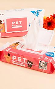 Chat Chien Nettoyage Serviette Animaux de Compagnie Accessoires de Toilettage Portable