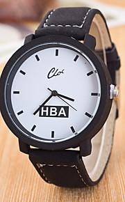 גברים שעוני ספורט שעוני שמלה שעוני אופנה שעון יד Chinese קווארץ עור אמיתי להקה מזל יום יומי יצירתי צבעוני שחור אפור סגול קפה שחור/לבן