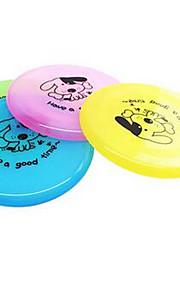 강아지 장난감 반려동물 장난감 플라잉 디스크 견고함 플라스틱 랜덤 색상